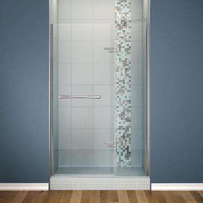 Reveal 48 in. x 71.5 in. Semi-Framed Pivot Shower Door in Chrome Finish