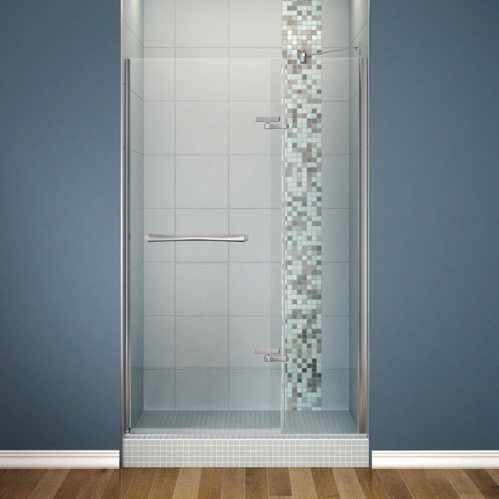 Maax Reveal 48 In X 71 1 2 In Frameless Pivot Shower