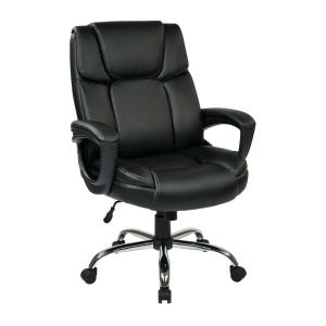 Work Smart Black Eco Leather Big Manu0027s Executive Office Chair  sc 1 st  The Home Depot : office chairs for customers - Cheerinfomania.Com