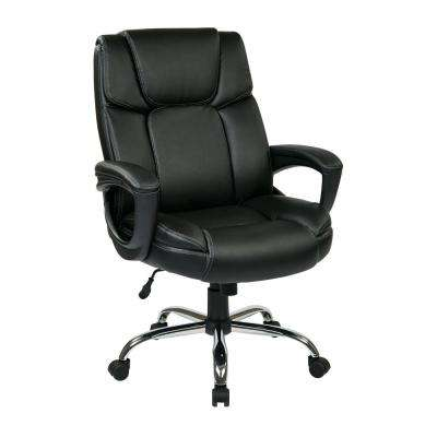 Black Eco Leather Man S Executive Office Chair
