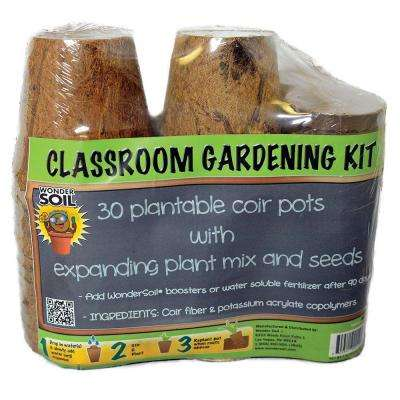 Classroom Gardening Kit with 30 Pots, Coco Wafers and Seeds