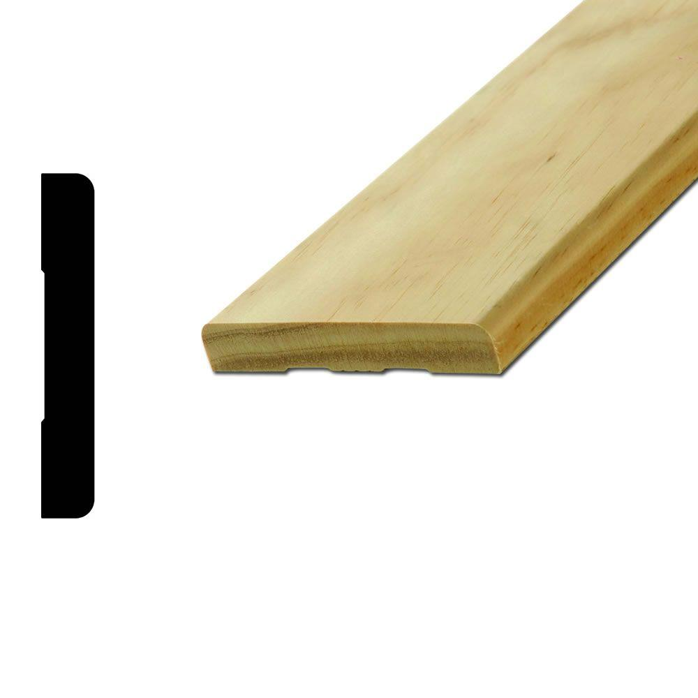 American Wood Moulding WM432 9/16 in. x 3-1/2 in. Pine Round Edge ...