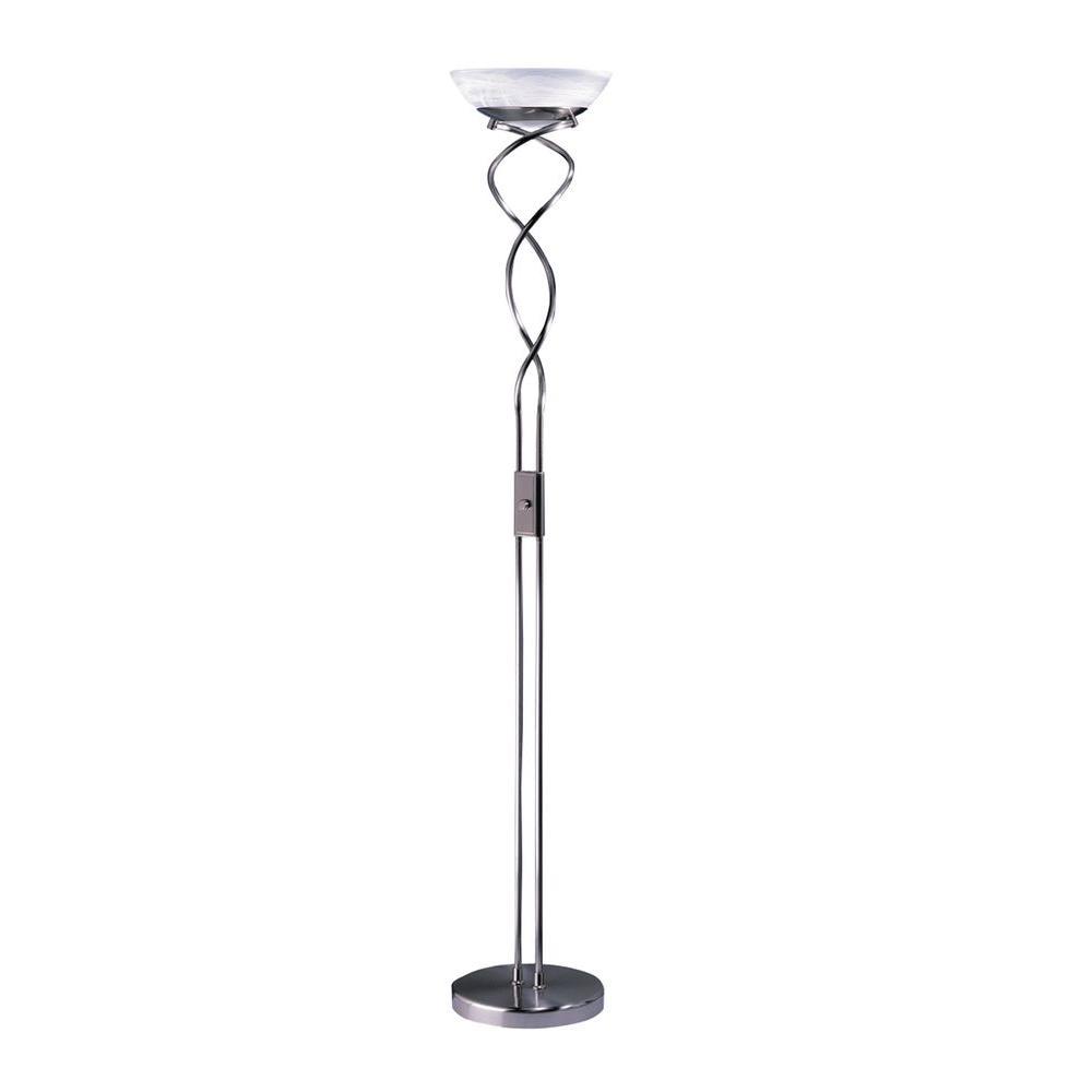 Satin Nickel Torchiere Lamp