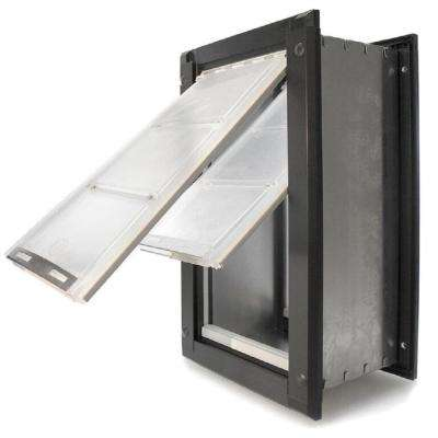 Small Double Flap For Walls With Dark Bronze Aluminum