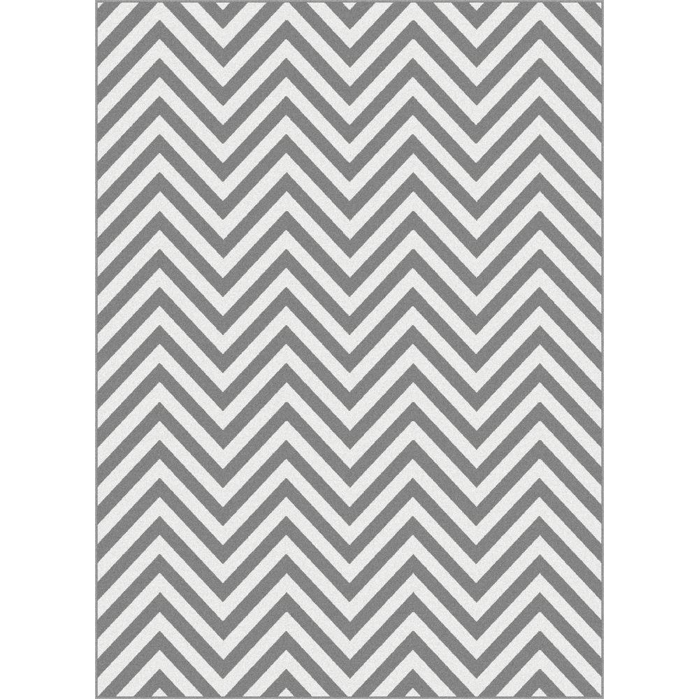 Tayse Rugs Metro Gray 5 ft. 3 in. x 7 ft. 3 in. Contemporary Area Rug