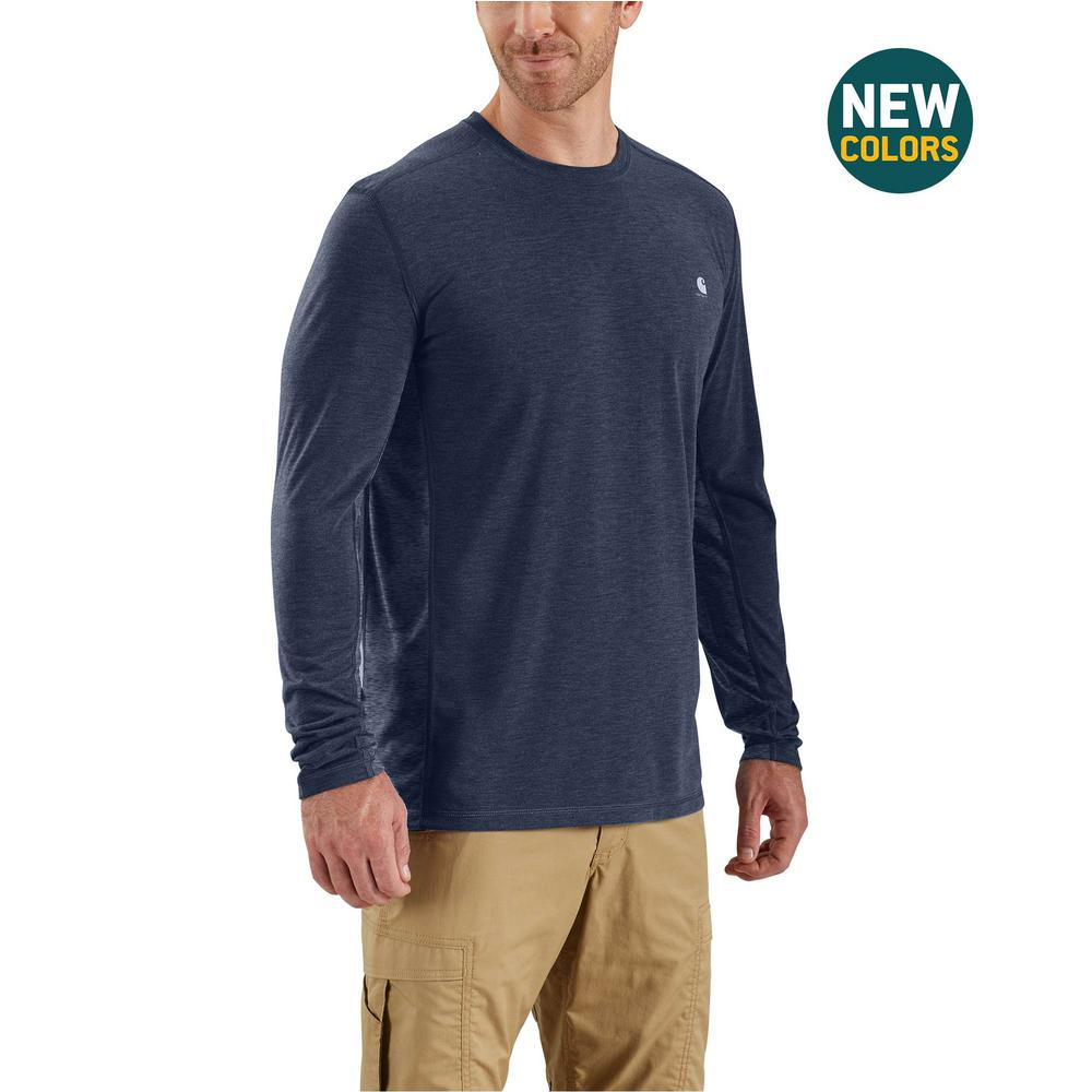 fc8acde1cff5 Men's Extra-Large Navy Heather Polyester/Cocona Force Extremes Long Sleeve T -Shirt