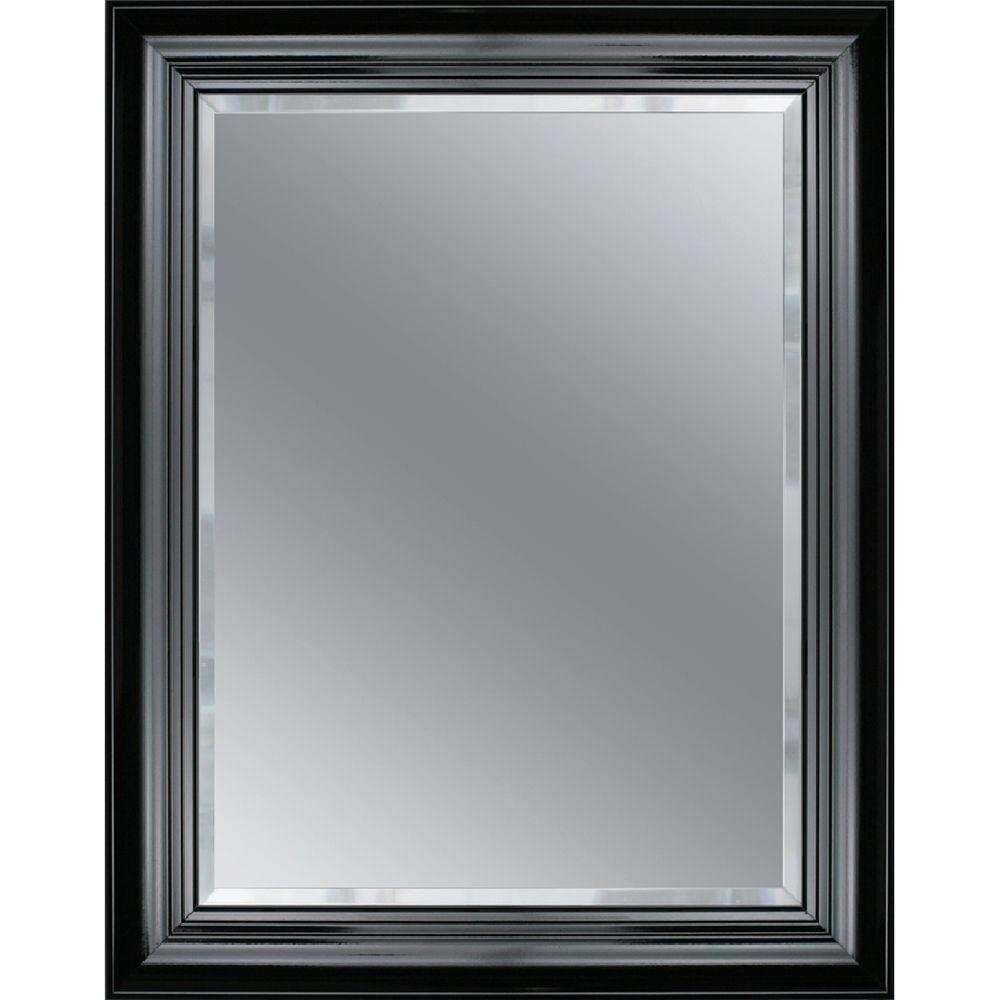 Deco Mirror Grand Piano 33 in. L x 27 in. W Wall Mirror in Black