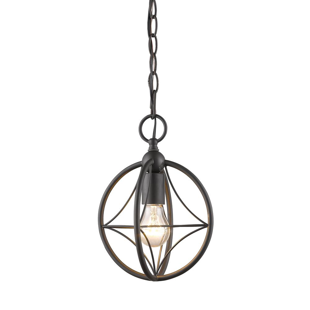 Filament Design Casa 1-Light Bronze Pendant with Bronze Steel Shade