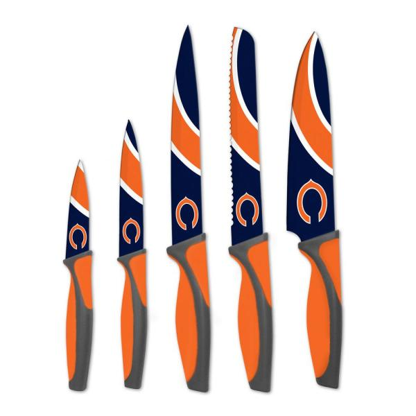sportsvault NFL Chicago Bears 5-Piece Kitchen Knives KKNFL06
