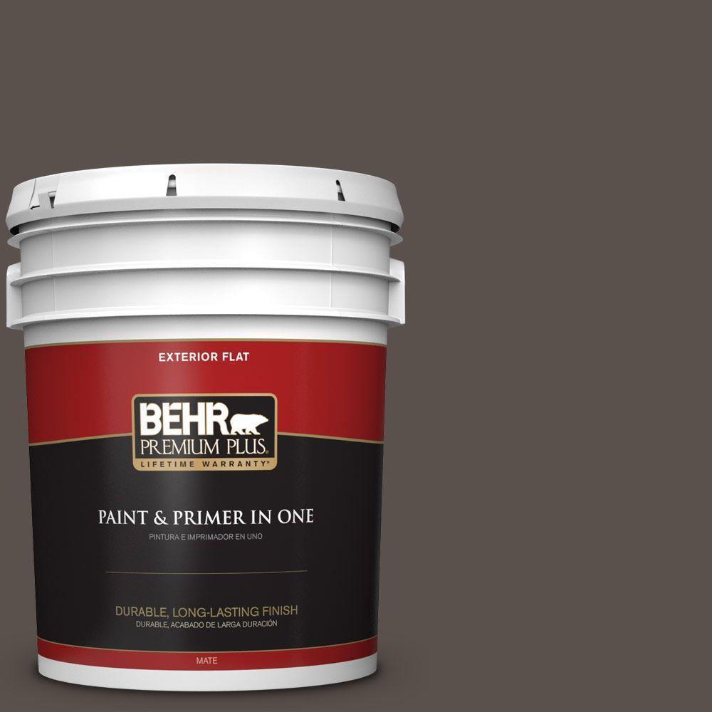 BEHR Premium Plus 5-gal. #790B-6 Stone Hearth Flat Exterior Paint