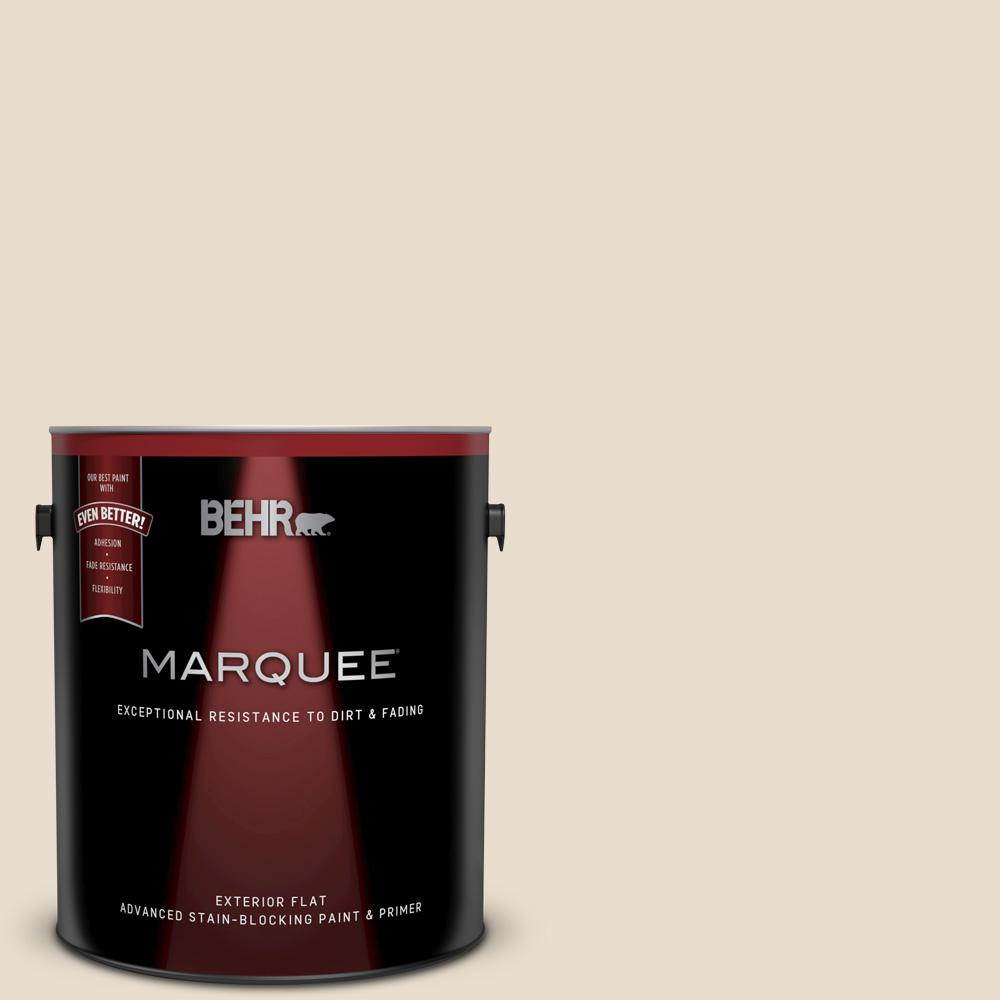 Behr Marquee 1 Gal 23 Antique White Flat Exterior Paint And Primer In One