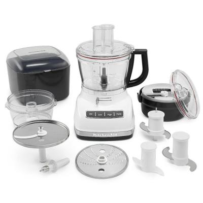 ExactSlice 14-Cup White Food Processor with Dough Blade and Dicing Kit