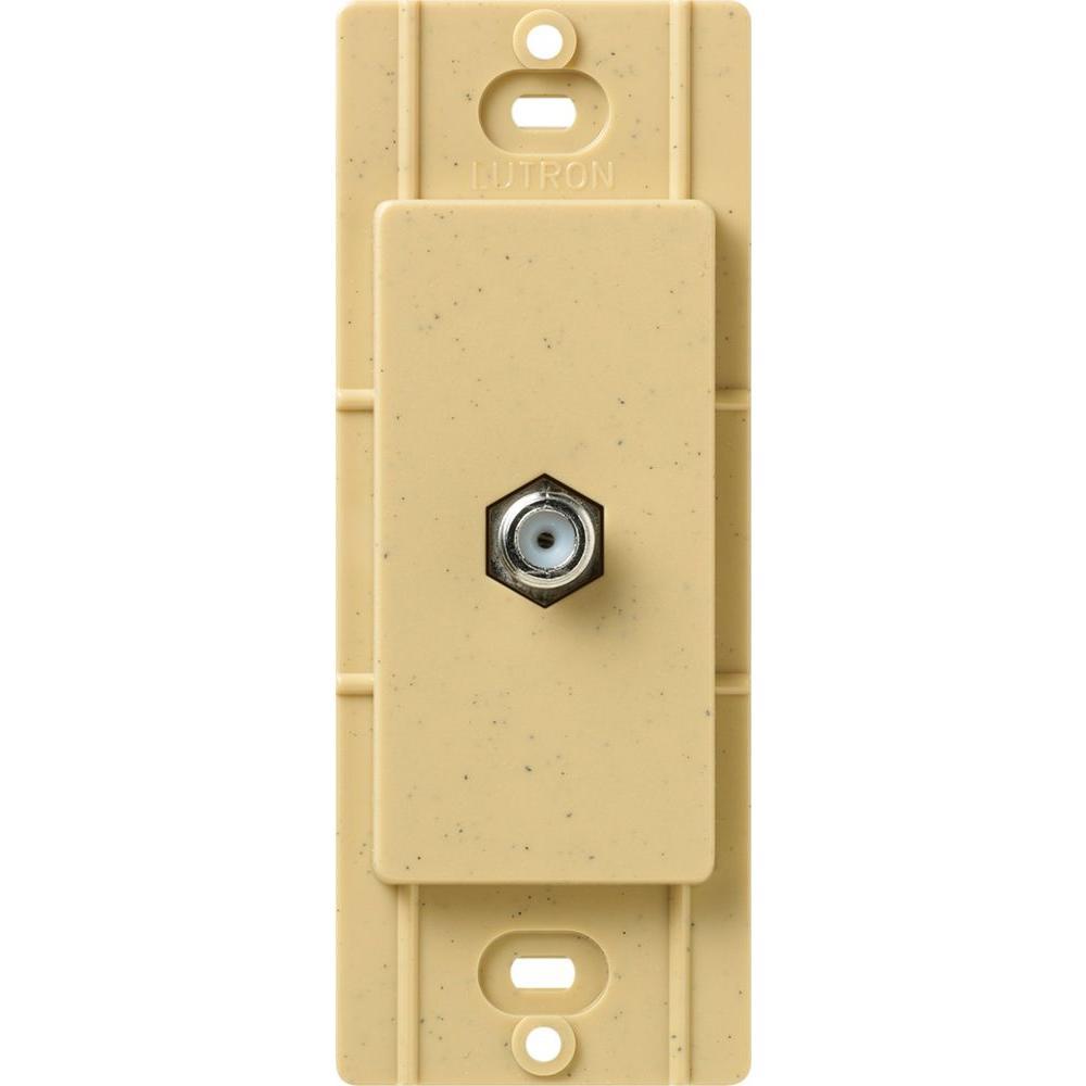 Lutron Satin Colors Coaxial Cable Jack - Goldstone