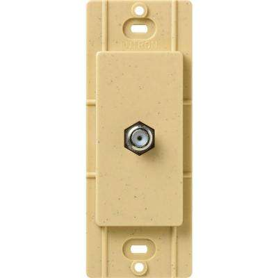 Satin Colors Coaxial Cable Jack - Goldstone