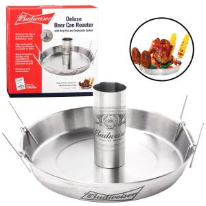 Click here to buy Budweiser Deluxe Beer Can Roaster by Budweiser.