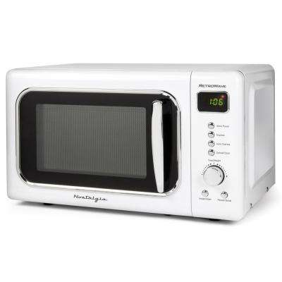 0.7 cu. ft. Countertop Microwave in Retro White with Express Cooking