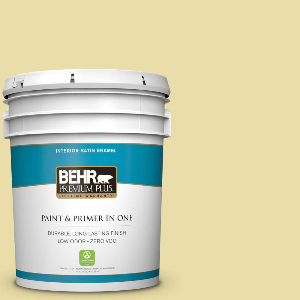 5 gal. #PPU8-12 Refreshing Tea Zero VOC Satin Enamel Interior Paint