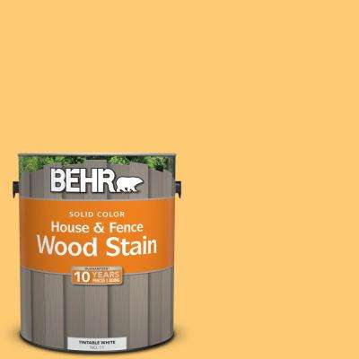 1 gal. #310B-5 Spiced Butternut Solid Color House and Fence Exterior Wood Stain