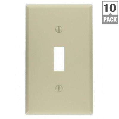 1-Gang Toggle Wall Plate, Light Almond (10-Pack)