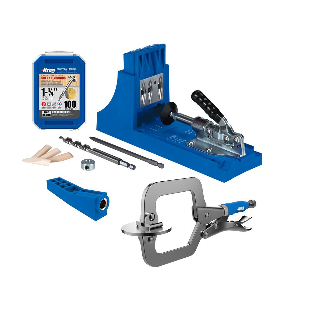 Kreg Pocket-Hole System with 2 in. Face Clamp, 100 Screws, and Mini Jig