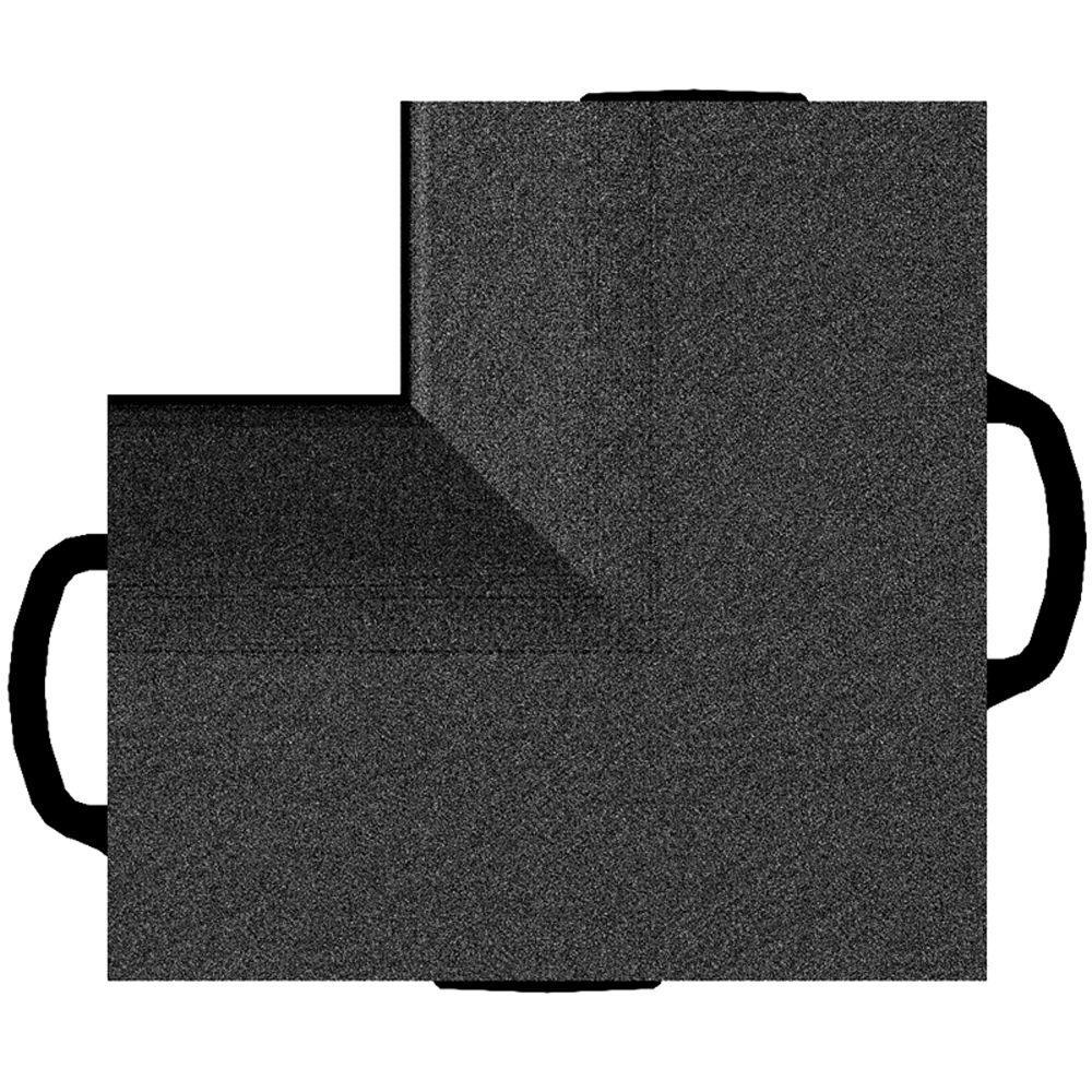 WeatherTech TechFloor Inside Corners in Black Vinyl Floor Liner (4-Pack)