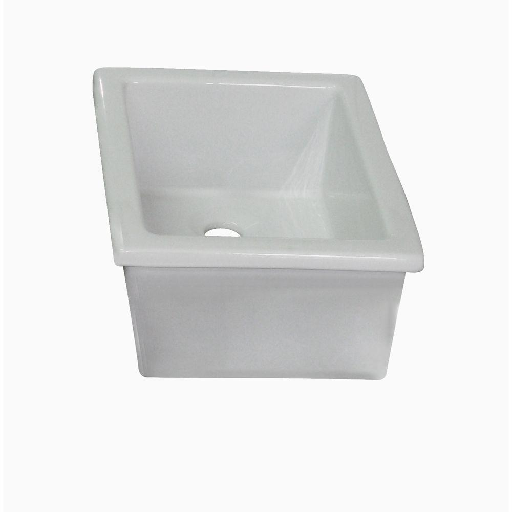 Barclay Products Drop In Fire Clay Bathroom Sink In White