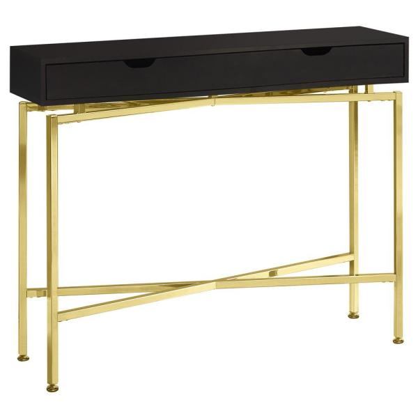 43 in. Cappuccino Standard Rectangle Console Table with Drawers