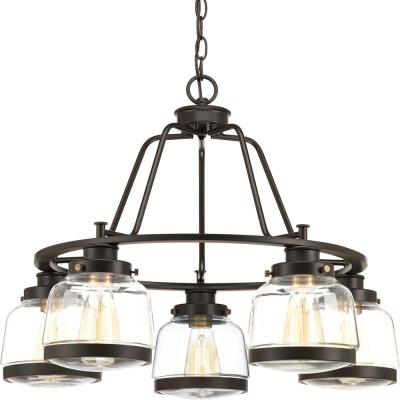 Judson Collection 5-Light Antique Bronze Chandelier with Shade