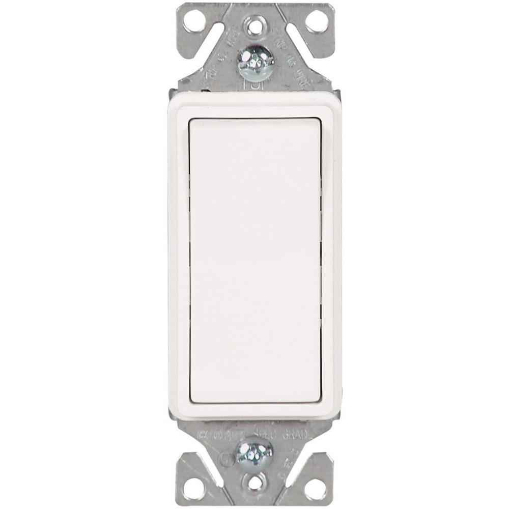 15 Amp 120-Volt/277-Volt Heavy-Duty Grade 3-Way Decorator Lighted Rocker Switch