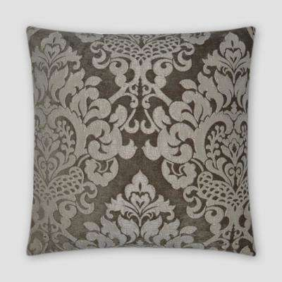 Elegance Taupe Feather Down 20 in. x 20 in. Standard Decorative Throw Pillow