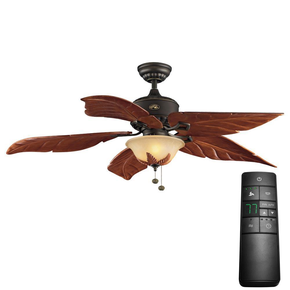 Antigua Plus 56 in. LED Oil-Rubbed Bronze Ceiling Fan with Light