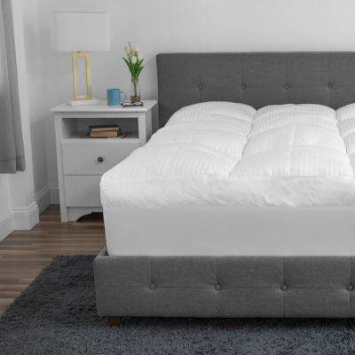5 in. King Polyester Fiber 500 Thread Count Tencel Mattress Topper