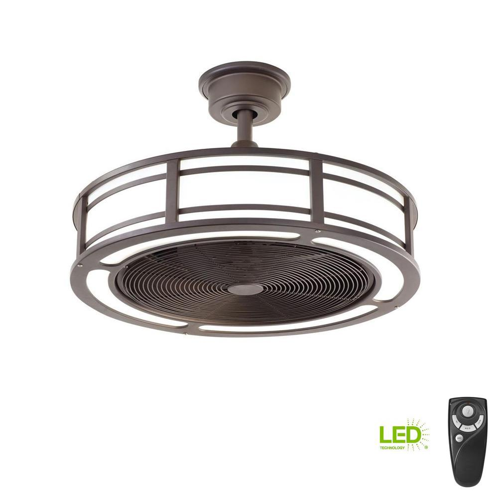 Home Depot Fans: Home Decorators Collection Brette 23 In. LED Indoor