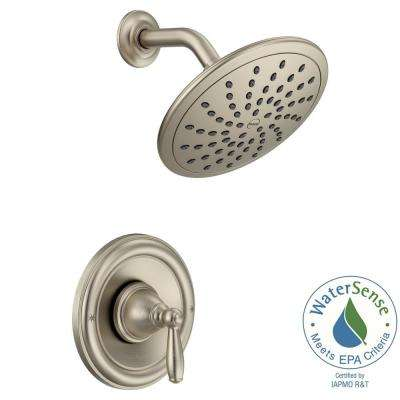 Brantford Posi-Temp Rainshower 1-Handle Shower Only Faucet Trim Kit in Brushed Nickel (Valve Not Included)