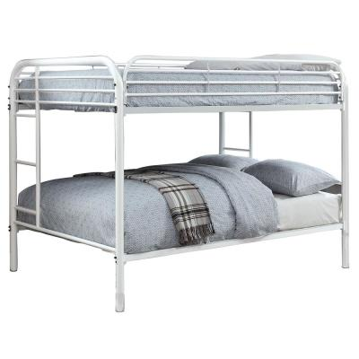 Opal Metal White Color Full Over Full Size Bunk Bed