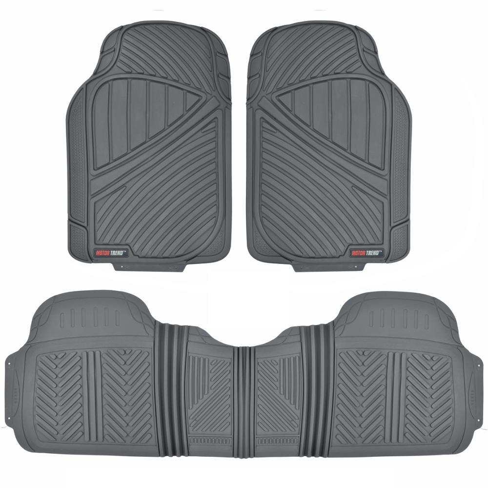 FlexTough MT-773 Gray Heavy Duty 3 Piece All Weather Rubber Car