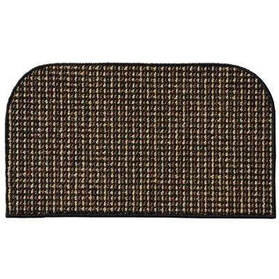 Berber Coloriations Black 18 in. x 30 in. Accent Rug
