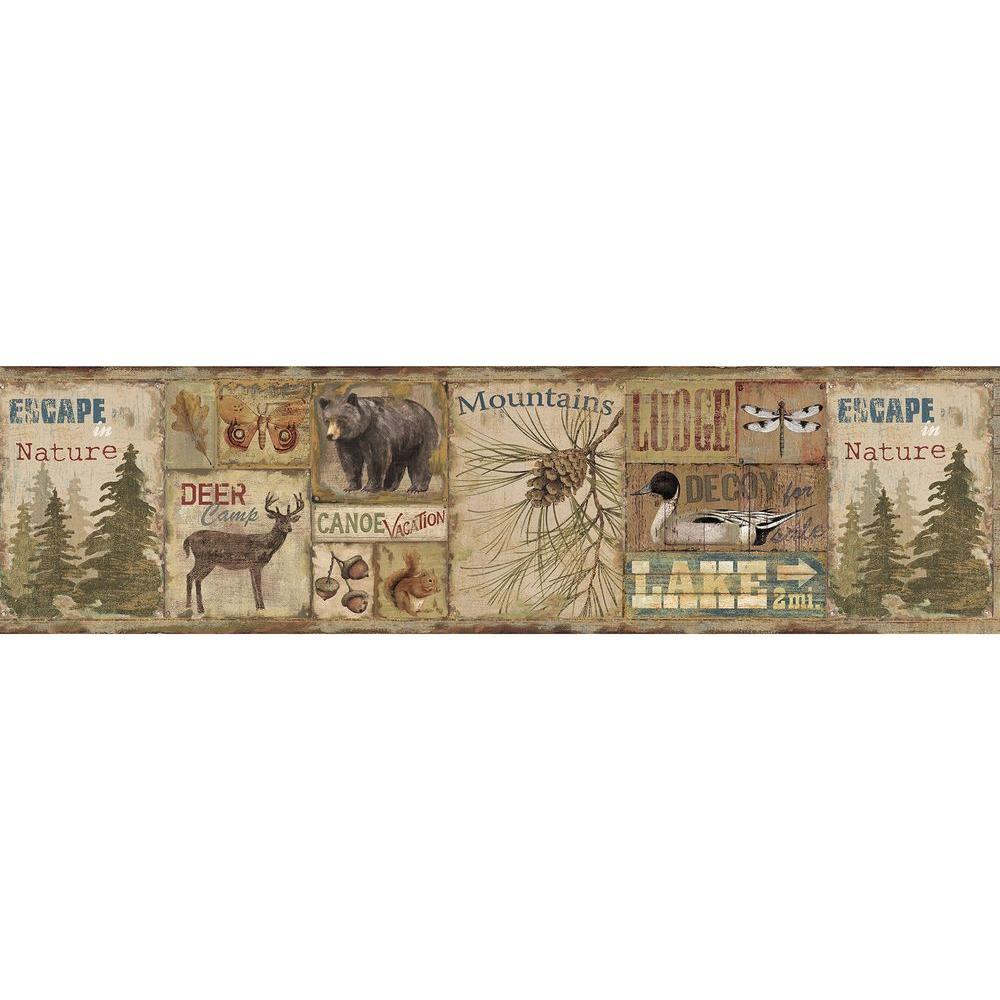 Chesapeake Attitash Deer Camp Wallpaper Border Tll01592b The Home