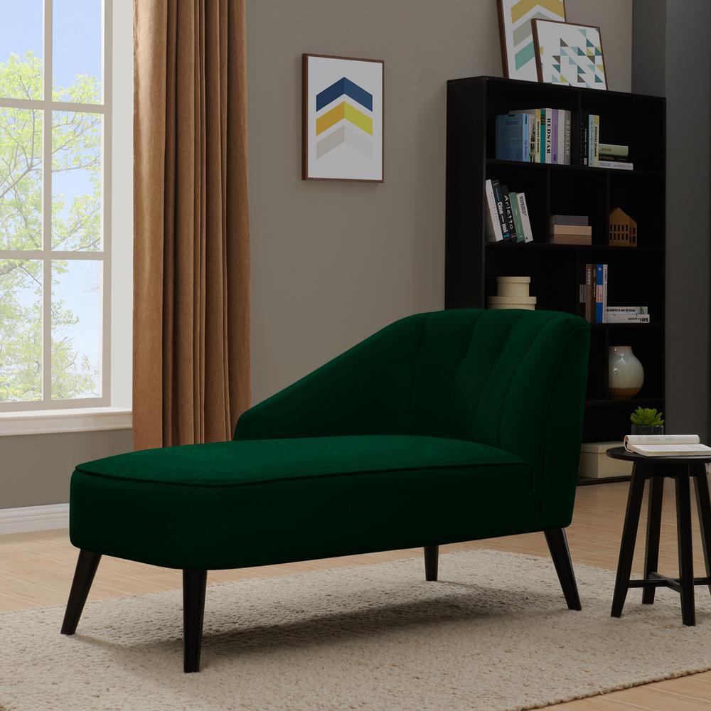 Handy Living Phoria Emerald Green Velvet Channel Tufted ...