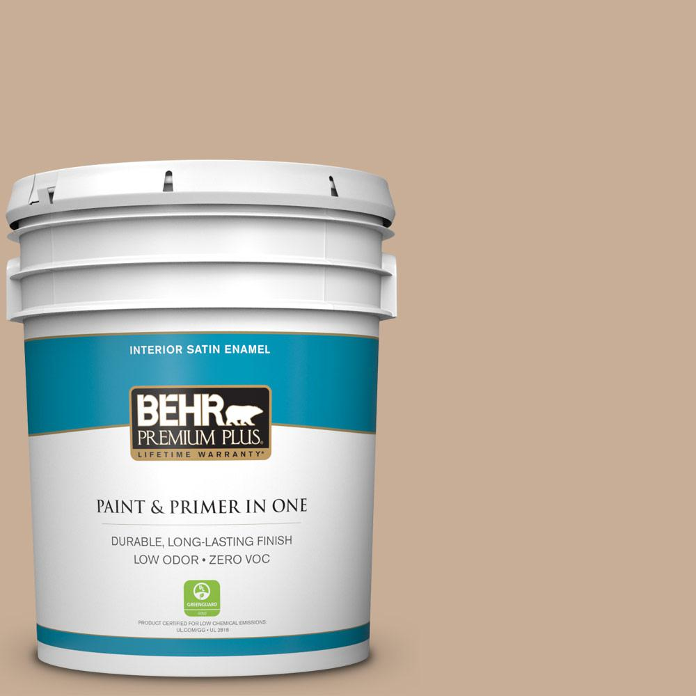 5-gal. #280E-3 Toasted Wheat Zero VOC Satin Enamel Interior Paint
