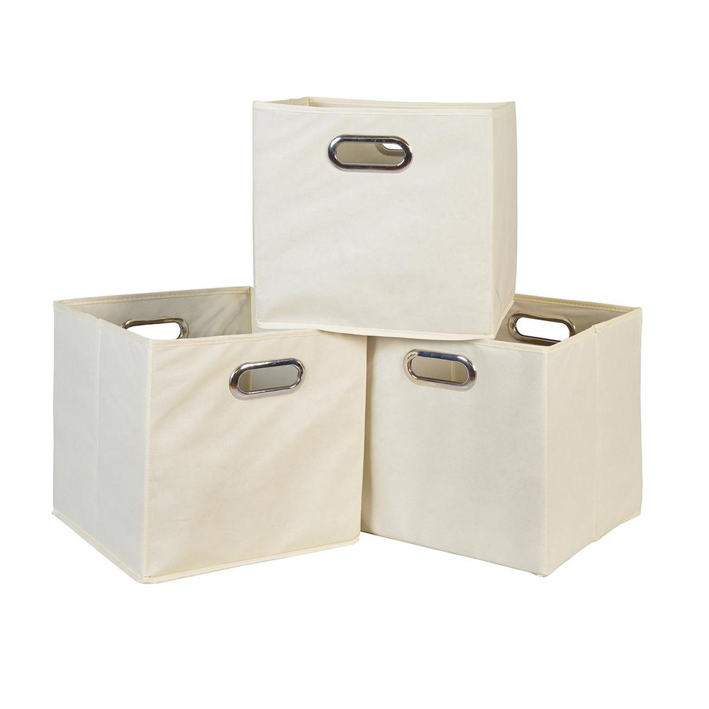 Natural Foldable Fabric Bin (3