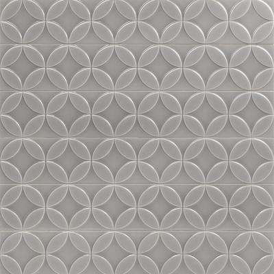 Cavanaugh Deco Gray 4 in. x 24 in. x 10mm Polished Ceramic Subway Wall Tile (8 pieces / 5.16 sq. ft. / box)