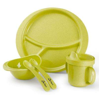 Earth Dish Green Set for Kids 100% Made from a Plant