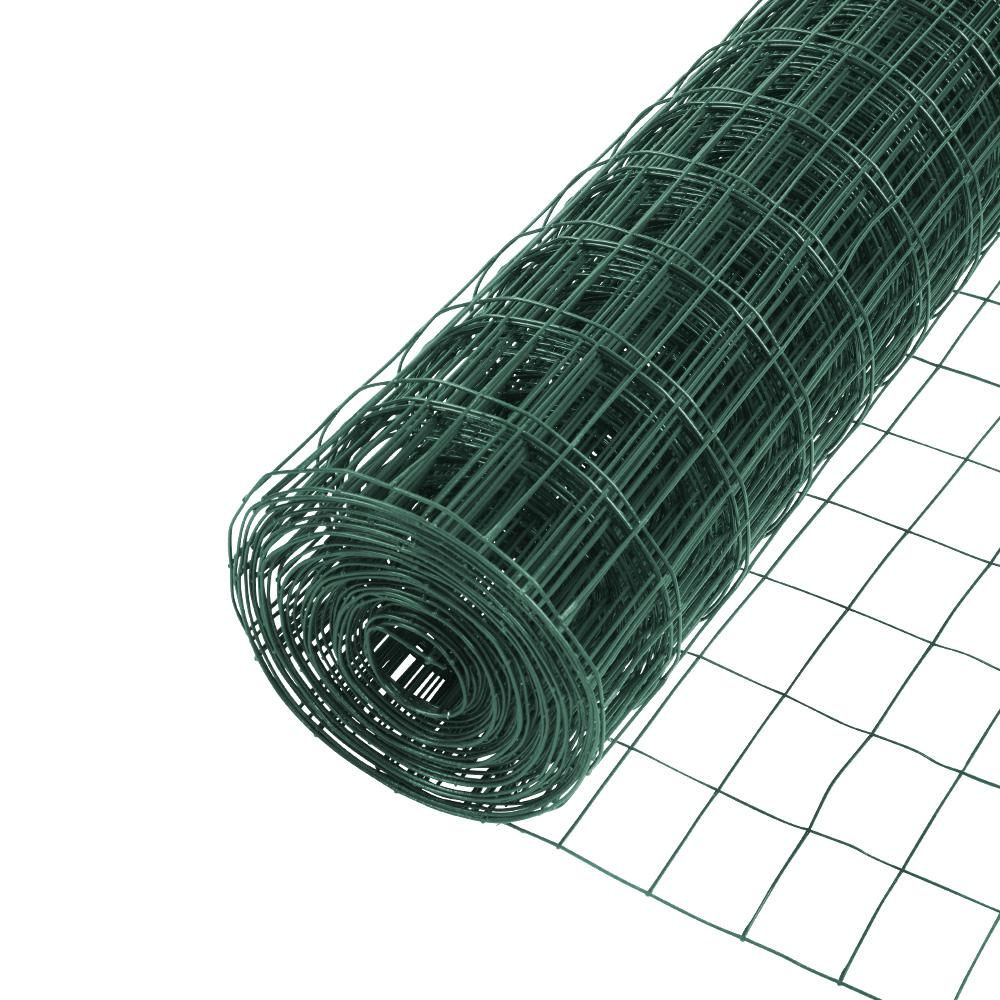 Everbilt 4 ft. x 50 ft. Green PVC Coated Welded Wire