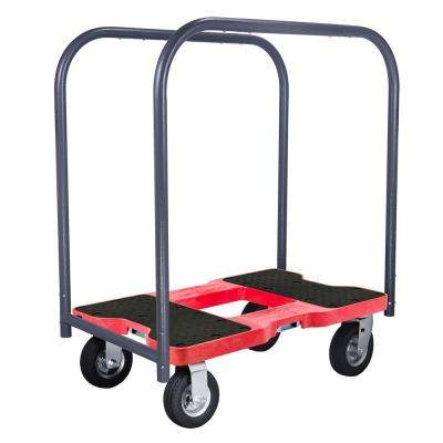 1,500 lbs. Capacity Air-Ride Professional E-Track Panel Cart Dolly in Red