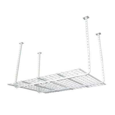 60 in. W x 45 in. D Adjustable Height Garage Ceiling Mount Storage Unit