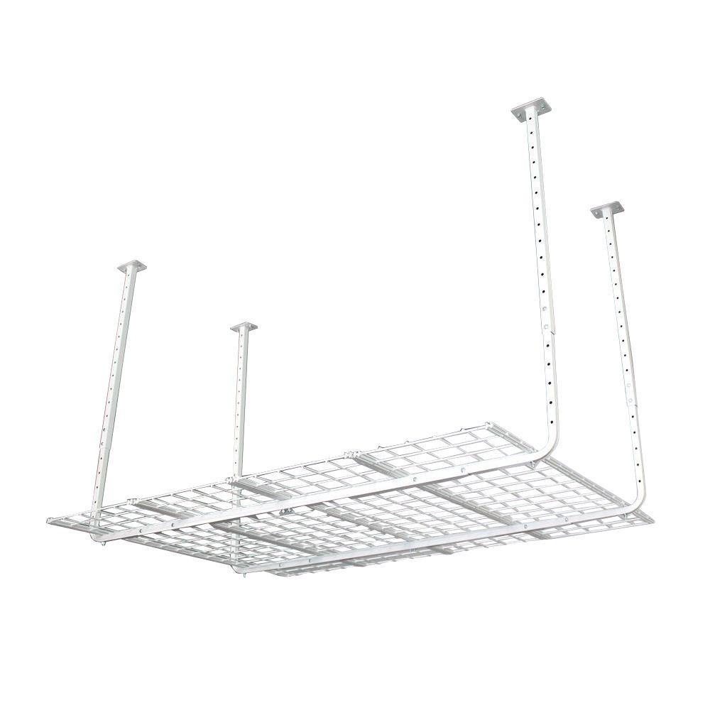 60 in. W x 45 in. D Adjustable Height Garage Ceiling Mount Storage Unit