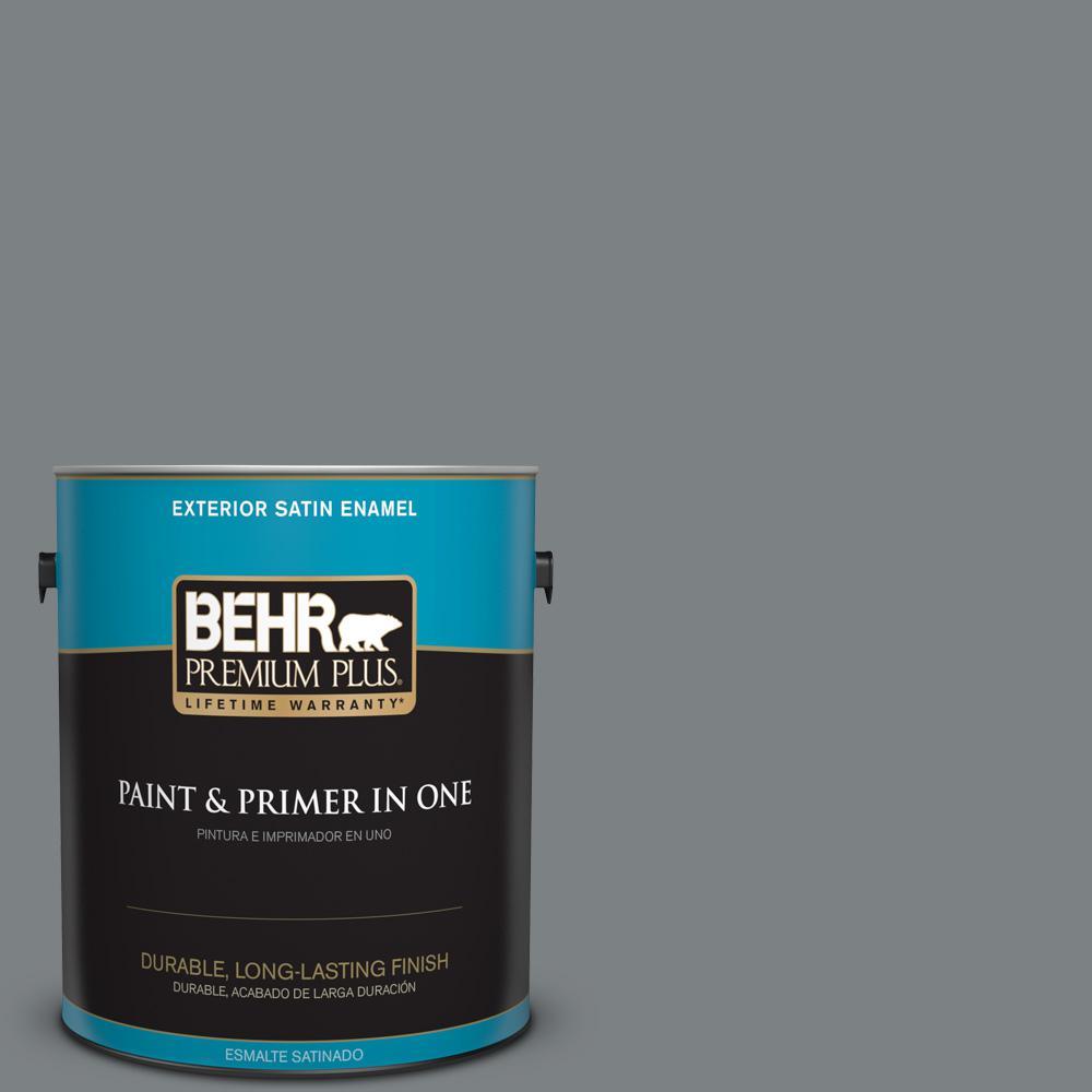 1 gal. #PPU26-03 Legendary Gray Satin Enamel Exterior Paint