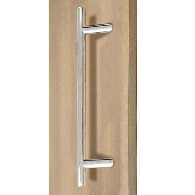 36 in. Offset Ladder Style Back-to-Back Polished Stainless Steel Door Pull Handleset for Easy Installation