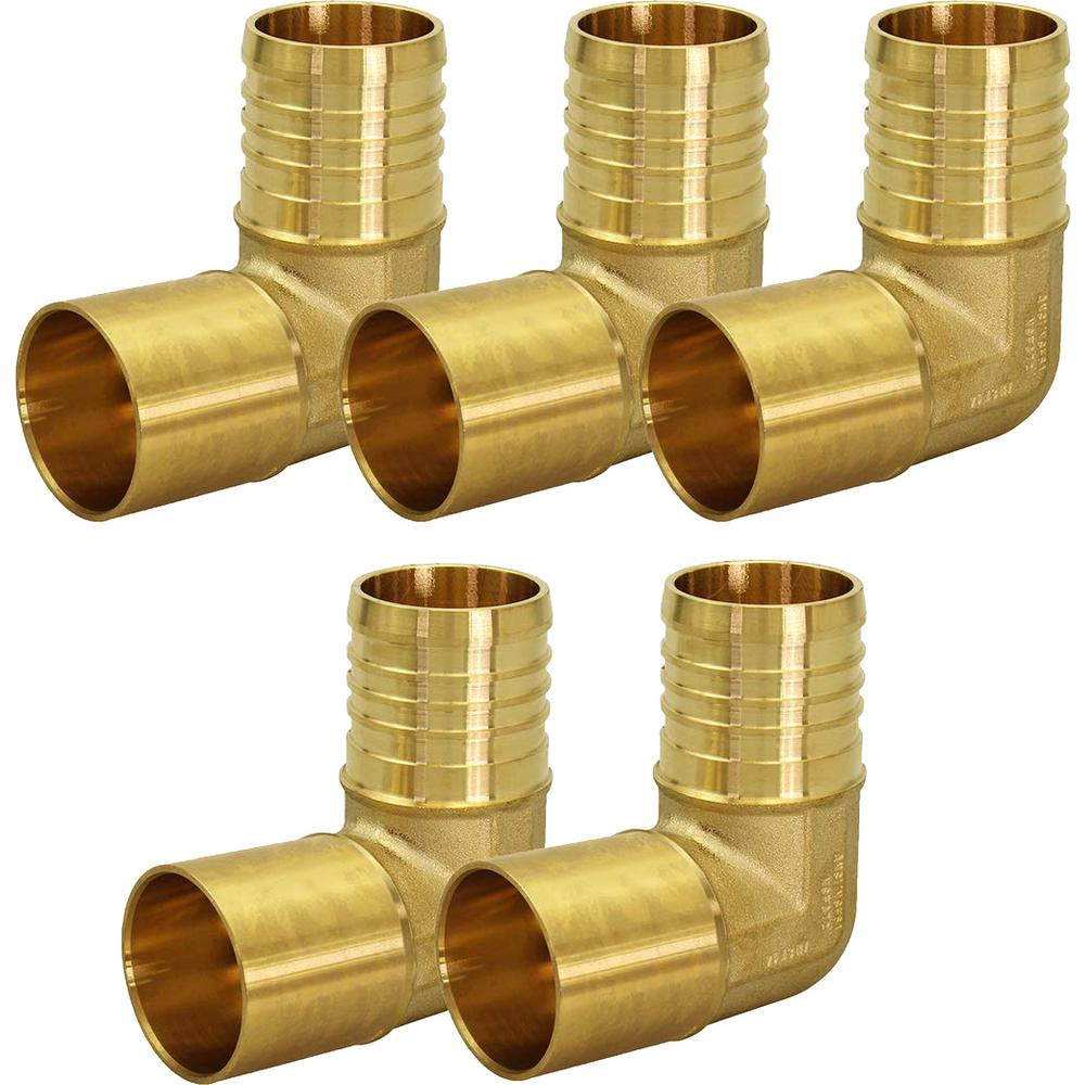 """1//2/"""" PEX ELBOW BRASS 90 CRIMP FITTINGS LEAD FREE LOT OF 20 PIECES"""